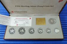 1994 Singapore Sterling Silver Proof Coin Set (1¢ - $5 Coin)