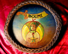 EXTRAORDINARY RARE Antique MASONIC SHRINER PAINTED BASKET Mystic Folk Art Beauty