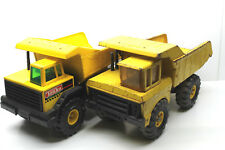 2 Tonka Dump Trucks Mighty Turbo Diesel 1984+Vintage 1970 Pressed Steel Xmb-975
