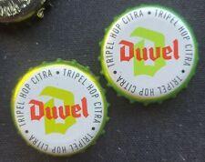 2 capsules Duvel Citra Beer Bottle Top Crown Caps Used Lager Belgium