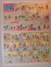 Mickey Mouse Sunday Page by Walt Disney from 4/20/1941 Tabloid Page Size