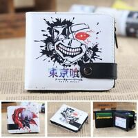 Tokyo ghoul fold button purse wallet money card bags billfold anime