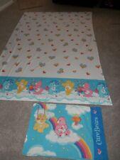 Care Bears Rainbow Hearts  pillowcase & Twin Flat Sheet 2002 vintage
