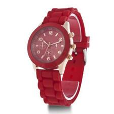 Colorful Womens Mens Geneva Silicone Jelly Gel Quartz Analog Sports Wrist Wa GA