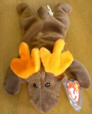 TY Beanie Babies Chocolate The Moose, PVC Pellets, 1993  Pencil 2 in Tush Tag
