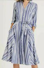 Phase Eight Willa Stripe Dress Navy/Ivory Size UK18 RRP89