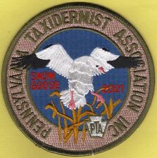 "Pa Pennsylvania Fish Game Commission NEW 2001 PTA Snow Goose 4"" Taxidermy  Patch"