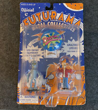 Futurama Metal Collectible Figures Fry Bender Rocket Usa Vintage 2000 Sealed