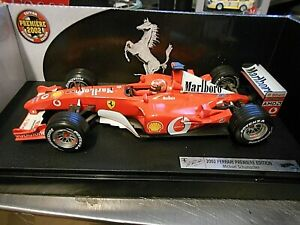F1 FERRARI F2002 #1 Michael Schumacher 2002 WC + Marlbo Saison Hot Wheels 1:18