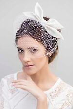 Maggie Mowbray Birdcage Veil Lotta (RRP £155) BNIB Wedding Bridal Headpiece Bow