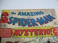 AMAZING SPIDER MAN # 13 MYSTERIO NEXT SPIDERMAN MOVIE & VINTAGE # 33 CGC 8.5