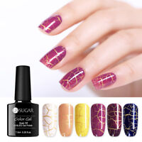 UR SUGAR 7.5ml Crackle Gellack Soak Off Nail Art UV LED Gel Nagellack Dekors