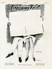 """""""CHAUSSURES CECIL"""" Annonce originale entoilée L'ILLUSTRATION 23/3/29  VAN DONGEN"""