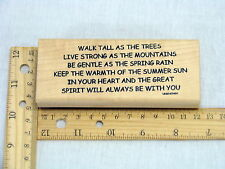 Walk Tall As The Tress Quote Spirit Rubber Stamp - Copper Leaf Creations