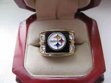 "Superb NEW Mens ""Steelers"" Crest Gold Ring"