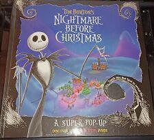 Nightmare Before Christmas Pop-Up / Tim Burton Hardcover 1993 Disney