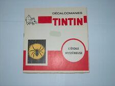 HERGE TINTIN LIVRET COMPLET DECALCOMANIES DAR L'ETOILE MYSTERIEUSE TBE