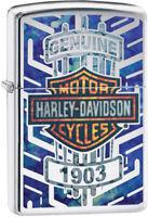 Zippo Harley Davidson Genuine Motorcycle Logo Windproof Lighter 11565
