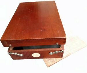 Repair Required Rare Wood Holder for 50 Stereoscopic Verascope 3d Glass Slides