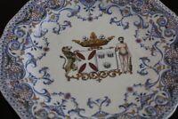 Assiette en faïence à décor armorié Blason armoiries