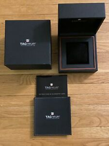 ORIGINAL LARGE TAG HEUER WATCH BOX W/ PILLOW CUSHION PRESENTATION DISPLAY BOX