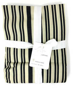 New~Pottery Barn Antique Stripe Shower Curtain~Navy Blue
