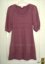 579 rose mauve tricot Pull Empire Puff SLV Babydoll 00 S robe S UK 8 EU 36 US 4