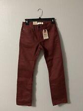 Boys Levis Strauss & Co 511 Maroon Jeans Slim From Hip To Ankle