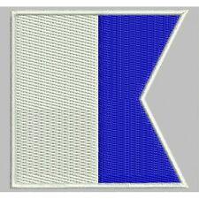 "Parche Bordado Bandera Nautica ""A"" / Embroidery patch flag ""A"" (ICS Alpha)"