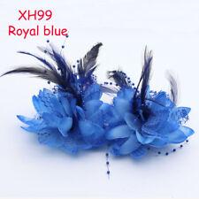12cm Flower Feather Corsage Hair Clips Fascinator Bridal Headband Wrist flowers
