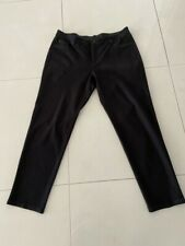 Ladies Chico's Black Winter Weight Stretch Straight Jean Style Pants Size 16/18