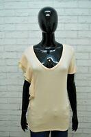 Maglia LIU JO Donna Taglia Size M Maglietta Blusa Shirt Woman Elastica Hemd