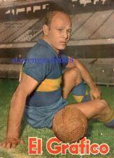 BOCA JUNIORS - NATALIO PESCIA Soccer Original Magazine Argentina 1953