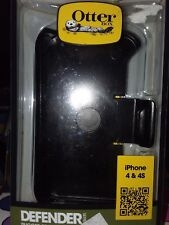 BRAND NEW OTTERBOX DEFENDER PHONE CASE FOR IPHONE 4 & IPHONE 4S - Black 77-18581