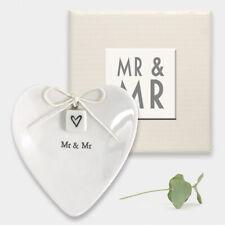 """mr & Mr"" Ring Dish East of India White Porcelain Wedding Civil Ceremony"
