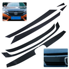 For Honda Civic 2016 Carbon Fiber Texture Bumper Grille Decal Sticker Protector
