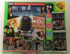 Doctor Who - MONSTER INVASION - Issue 1 - inc sealed trading cards
