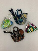 Vera Bradley Lot of 4 Mini Kisses Kisslock Coin Purse & Mini Miller Keyring New*