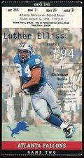 Football Ticket Detroit Lions 1998 8/14 Atlanta Falcons Barry Sanders