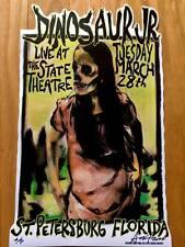 Dinosaur Jr Concert Poster Signed #d Proof Flyer Florida Tour Punk Rock J Mascis