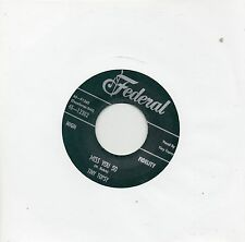 TINY TOPSY    MISS YOU SO / YOU SHOCKED ME   FEDERAL Re-Iss/Re-Pro  R&B/NORTHERN