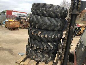 JCB BKT 10.5/80-18 Tyre C/W 5 Stud Wheel (AMS 42)