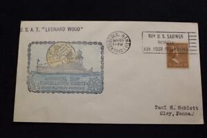 NAVAL COVER 1940 SLOGAN CANCEL HAND COLORED CACHET U.S.A.T. LEONARD WOOD (3190)