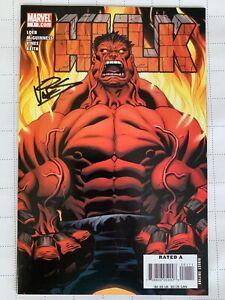 HULK#1 2008 1st Appearance Red Hulk NM SIGNED VINES Mega Key Thunderbolts Ross