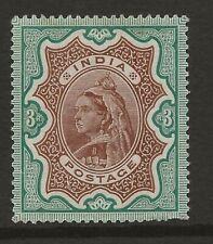 INDIA  SG 108  1895 Q.V. 3r  FINE MOUNTED MINT