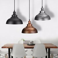 Vintage E27 Ceiling Light Pendant Retro Metal Lampshade Industrial Light Shade