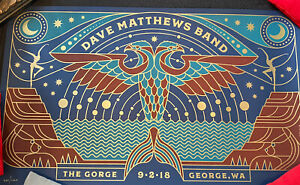 Dave Matthews Band DMB Gorge Posters; 9/2/18, Beautiful Steely Print; #935/1700