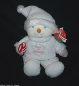"12"" FIRST MAIN BABY'S 1ST CHRISTMAS SNOWMAN SNOWBABY STUFFED ANIMAL PLUSH TOY"