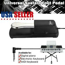 """Universal Damper Sustain Foot Pedal 1/4"""" For Electric Piano Keyboard Yamaha Korg"""