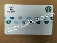 SUPER RARE Starbucks 2017 Co Branded Blue Cups card